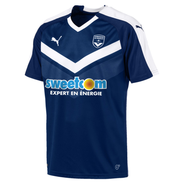 Girondins de Bordeaux Men's Home Replica Jersey, Puma New Navy-Puma White, large