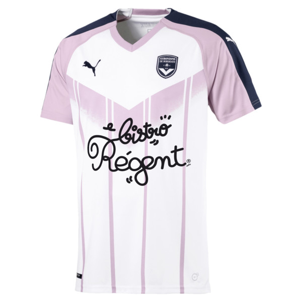 Girondins de Bordeaux Men's Away Replica Jersey, White-Peacoat-Winsome Orchid, large