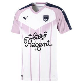 Thumbnail 1 of Girondins de Bordeaux Kid's Away Replica Jersey, White-Peacoat-Winsome Orchid, medium