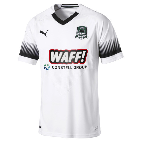 FC Krasnodar Men's Away Replica Jersey, Puma White-Puma Black, large