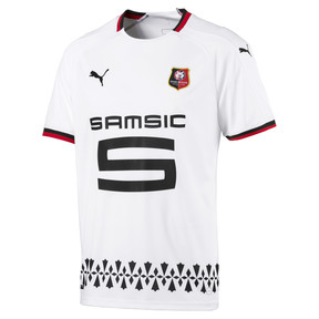 Thumbnail 1 of Stade Rennais FC Men's Away Replica Jersey, Puma White-Puma Black, medium