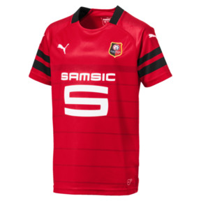 Thumbnail 1 of Stade Rennais FC Kids' Home Replica Jersey, Puma Red-Puma Black, medium