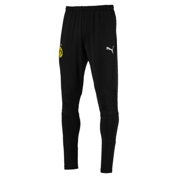 BVB Herren Taillierte Trainingshose, Puma Black, large