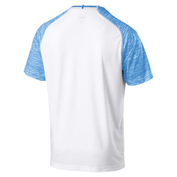Camiseta de la primera equipación de réplica de hombre Olympique de Marseille, Puma White-Bleu Azur, grande