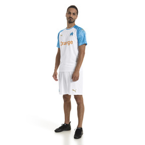 Thumbnail 3 of Olympique de Marseille Men's Home Replica Jersey, Puma White-Bleu Azur, medium