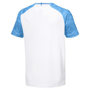 Thumbnail 2 of Olympique de Marseille Kids' Home Replica Jersey, Puma White-Bleu Azur, medium