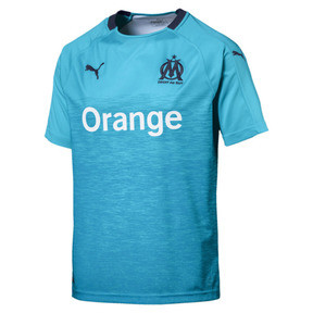 Thumbnail 4 of Olympique de Marseille Men's Third Replica Jersey, Nrgy Turquoise-Peacoat, medium