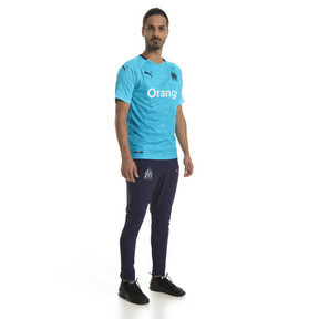 Thumbnail 3 of Olympique de Marseille Men's Third Replica Jersey, Nrgy Turquoise-Peacoat, medium