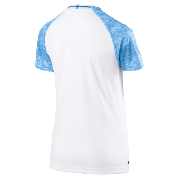 Olympique de Marseille Women's Home Replica Jersey, Puma White-Bleu Azur, large