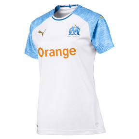 Thumbnail 1 of Olympique de Marseille Women's Home Replica Jersey, Puma White-Bleu Azur, medium
