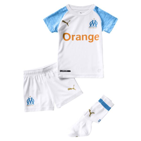 Olympique de Marseille Kids' Home Minikit, Puma White-Bleu Azur, large
