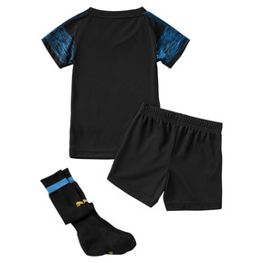 Thumbnail 2 of Olympique de Marseille Kids' Away Minikit, Puma Black-Bleu Azur, medium