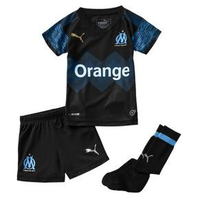 Thumbnail 1 of Olympique de Marseille Kids' Away Minikit, Puma Black-Bleu Azur, medium