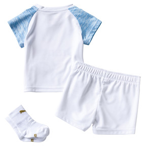 Thumbnail 2 of Olympique de Marseille Home Baby Kit, Puma White-Bleu Azur, medium