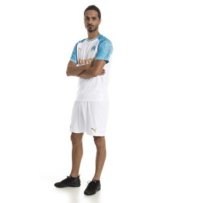 Thumbnail 3 of Olympique de Marseille Men's Replica Shorts, Puma White-Bleu Azur, medium