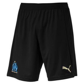 Thumbnail 4 of Olympique de Marseille Men's Replica Shorts, Puma Black-Bleu Azur, medium