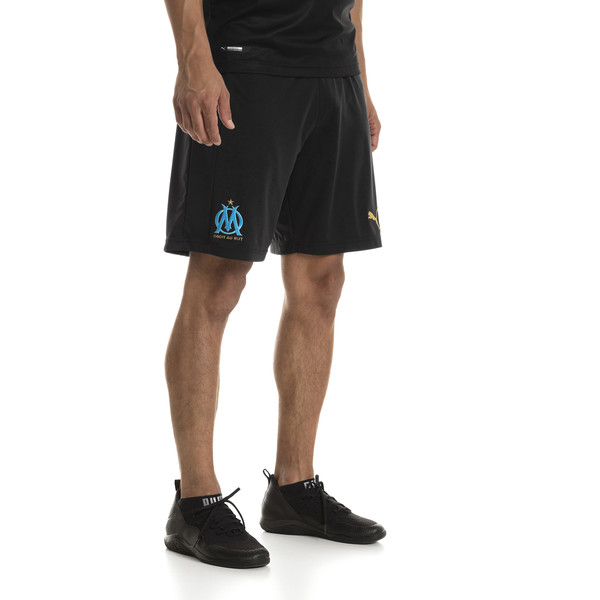 Olympique de Marseille Men's Replica Shorts, Puma Black-Bleu Azur, large