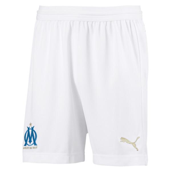 Short Olympique de Marseille Replica pour enfant, Puma White-Bleu Azur, large
