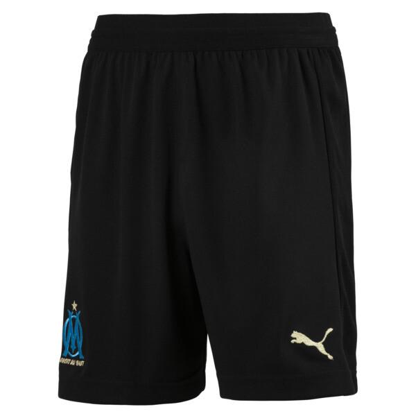 Olympique de Marseille Kids' Replica Shorts, Puma Black-Bleu Azur, large