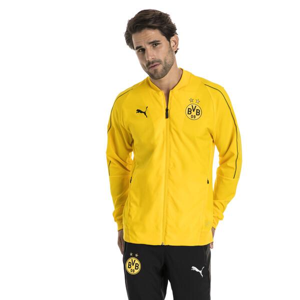 BVB Leisure Jacket voor Heren, Geel, Maat M | PUMA