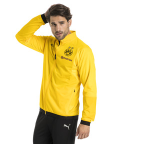 Thumbnail 1 of BVB Men's Poly Jacket, Cyber Yellow, medium