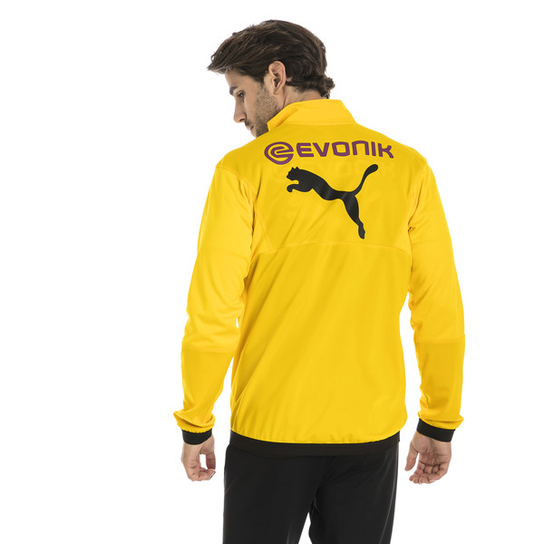 BVB Men's Poly Jacket, Cyber Yellow, large