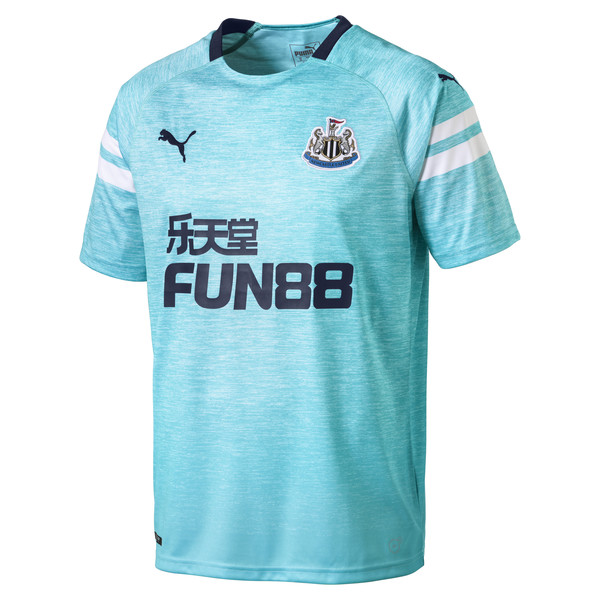Newcastle United Men's Third Replica Jersey, Blue Curacao-Peacoat, large