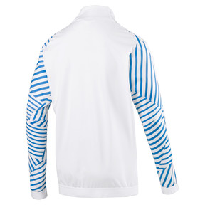 Thumbnail 5 of Olympique de Marseille Men's Stadium Jacket, Puma White- Bleu Azur, medium