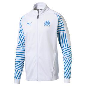 Thumbnail 4 of Olympique de Marseille Men's Stadium Jacket, Puma White- Bleu Azur, medium