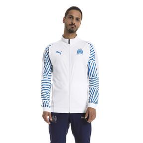 Thumbnail 1 of Olympique de Marseille Men's Stadium Jacket, Puma White- Bleu Azur, medium