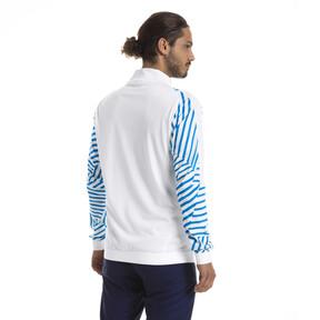 Thumbnail 2 of Olympique de Marseille Men's Stadium Jacket, Puma White- Bleu Azur, medium