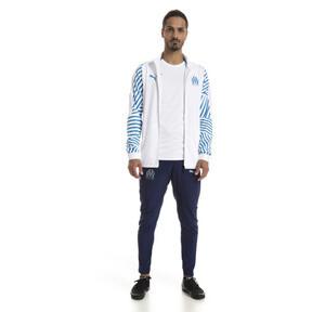 Thumbnail 3 of Olympique de Marseille Men's Stadium Jacket, Puma White- Bleu Azur, medium