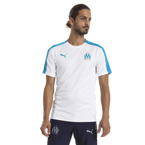 Thumbnail 1 of Olympique de Marseille Men's Stadium Jersey, Puma White-Bleu Azur, medium