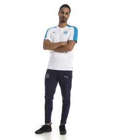 Thumbnail 3 of Olympique de Marseille Men's Stadium Jersey, Puma White-Bleu Azur, medium
