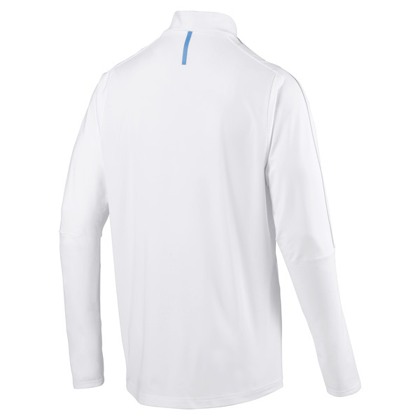 Olympique de Marseille Men's 1/4 Zip Training Top, Puma White, large