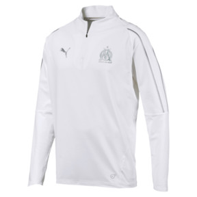 Thumbnail 1 of Olympique de Marseille Men's 1/4 Zip Training Top, Puma White, medium