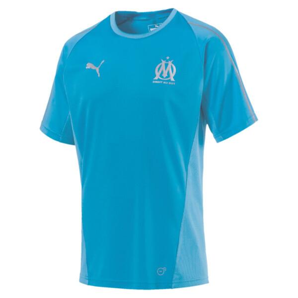 Olympique de Marseille Men's Training Jersey, Bleu Azur, large
