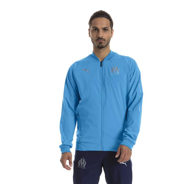 Olympique de Marseille Woven Jacket voor Heren, Blauw, Maat S | PUMA
