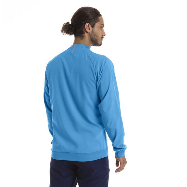 Olympique de Marseille Men's Woven Jacket, Bleu Azur, large