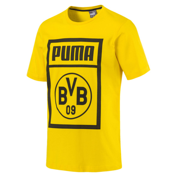 BVB Herren Shoe Tag T-Shirt, Cyber Yellow, large