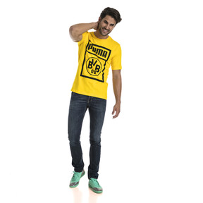 Thumbnail 3 of BVB Herren Shoe Tag T-Shirt, Cyber Yellow, medium