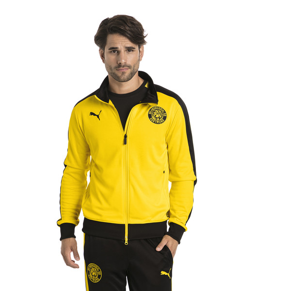 BVB Men's T7 Track Jacket, Cyber Yellow, large