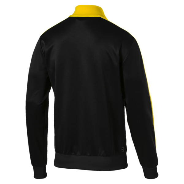 BVB Men's T7 Track Jacket, Puma Black, large