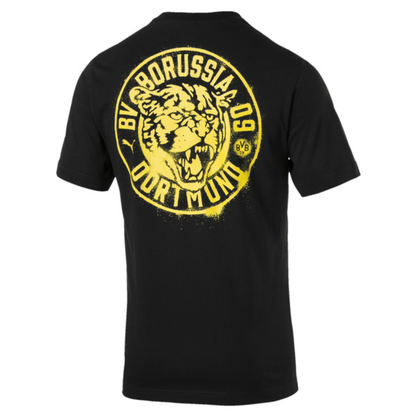 BVB Men's Premium Stencil T-Shirt, Puma Black, large