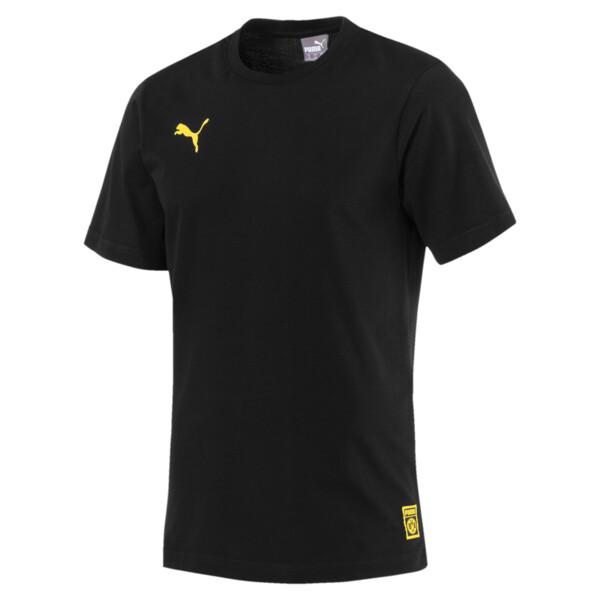 BVB Men's Premium Stencil T-Shirt, Puma Black, large