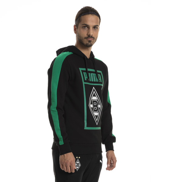 Borussia Mönchengladbach Men's Shoe Tag Hoodie, Puma Black, large