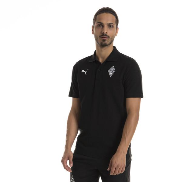 Borussia Mönchengladbach Men's Badge Polo, Puma Black, large