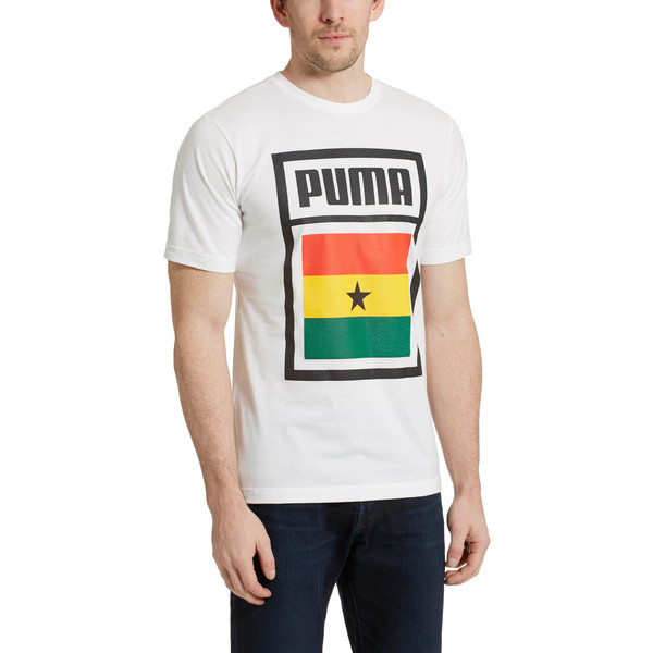 Forever Soccer Country Cotton T-Shirt, Puma White-(Ghana), large