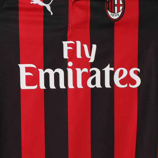 キッズ AC MILAN SS ホーム レプリカシャツ, Tango Red-Puma Black, large-JPN