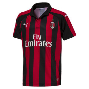 Thumbnail 1 of AC Milan Kids' Home Replica Jersey, Tango Red-Puma Black, medium